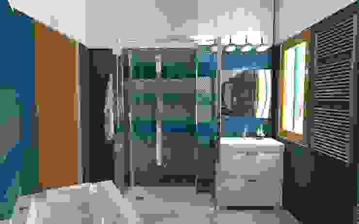 XOMPERO SNC di Xompero Arabella & C. Baños de estilo ecléctico Azul