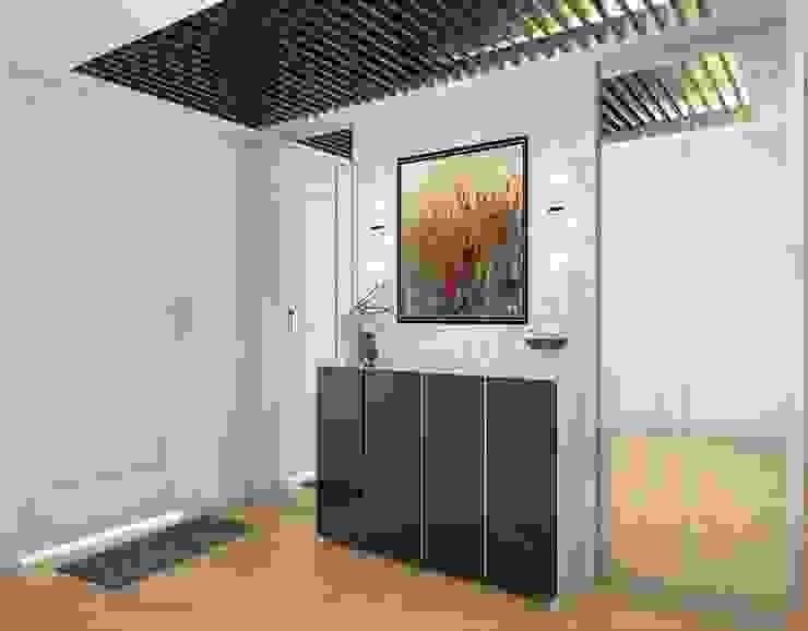 Foyer Area - Shoe Rack Lydia Design Studio Modern corridor, hallway & stairs