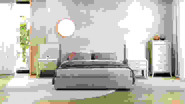 Letto RC BED con panelli laterali ITALIANELEMENTS Camera da lettoLetti e testate Legno