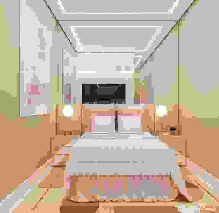 Quarto e Closet para adolescente Camila Pimenta | Arquitetura + Interiores Closets Madeira Rosa