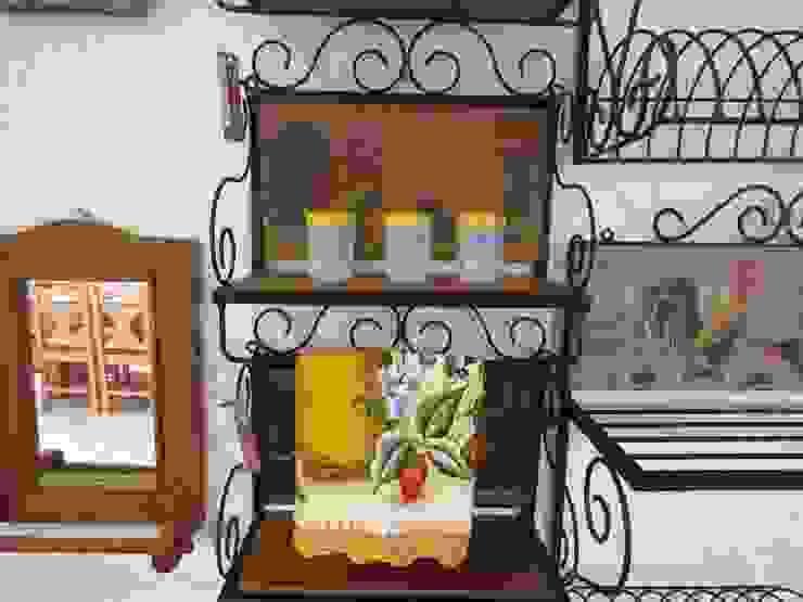 Porta Condimentos 40 em Madeira e Ferro - Cód 1412 Barrocarte CozinhaArrumação e despensas Ferro/Aço