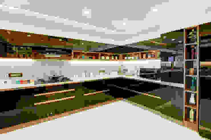 Modular Kitchen with Black Current Finish DLIFE Home Interiors Kitchen units