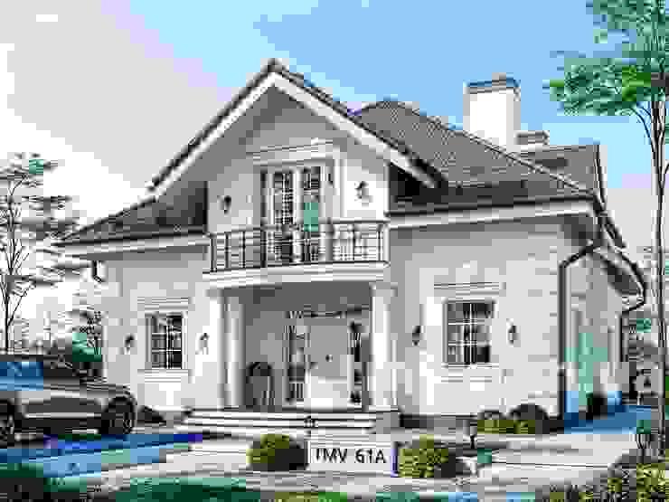 Стильный особняк с мансардой и вторым светом TMV 61A от TMV Architecture company