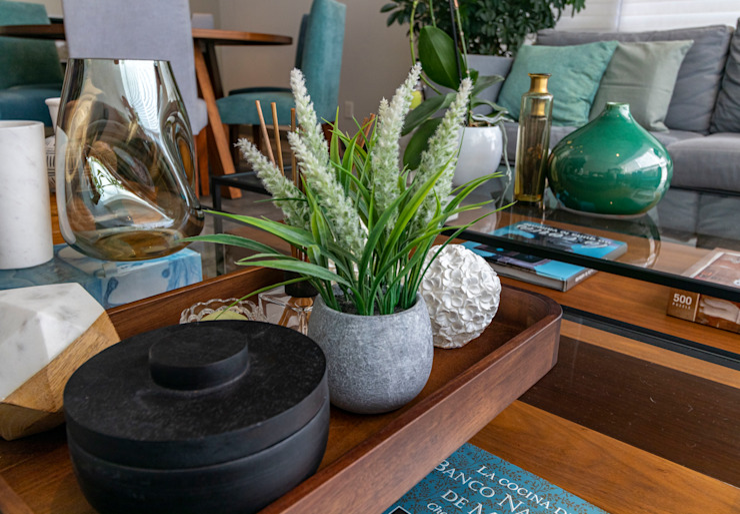 Decoración Salones modernos de Soma & Croma Moderno Derivados de madera Transparente