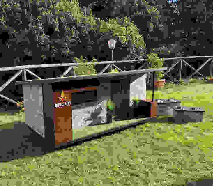 Cuccia di design da esterno ispirata a casa di Pet House Design® Moderno Legno Effetto legno
