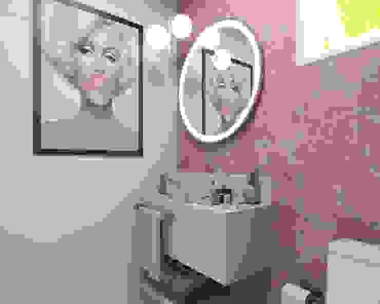 Triplo Arquitetura Bagno moderno Rosa