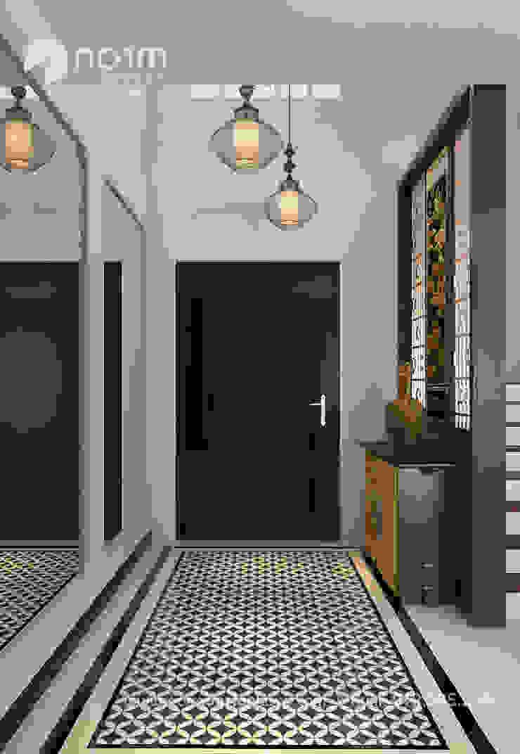 Pavilion Hilltop, Indochine Style Norm designhaus Asian style corridor, hallway & stairs