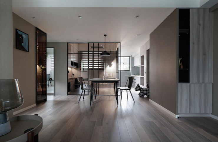 視覺深度 耀昀創意設計有限公司/Alfonso Ideas Scandinavian style corridor, hallway& stairs