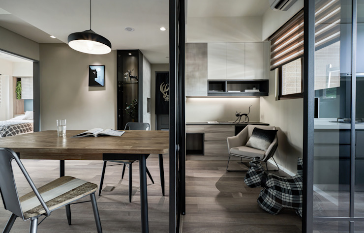 通透的書房 耀昀創意設計有限公司/Alfonso Ideas Floors