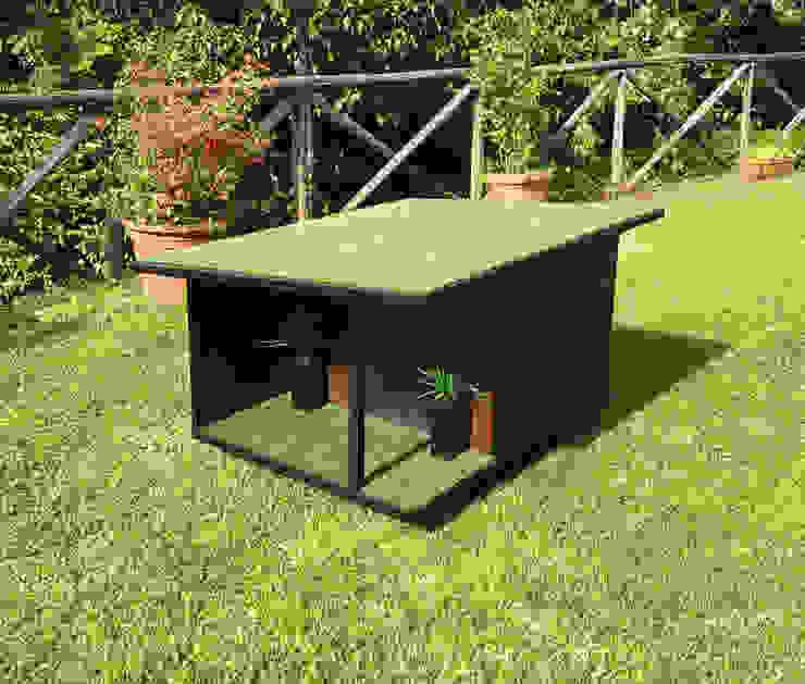 Cuccia di design da esterno su misura di Pet House Design® Moderno Legno Effetto legno