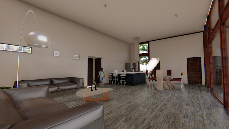 Vivienda Unifamiliar 160 m2. Curicó. Región del Maule Nave + Arquitectura & Modelación Paramétrica Livings de estilo mediterráneo