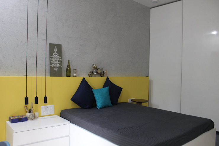 Saniya Nahar Designs 小臥室 MDF Yellow