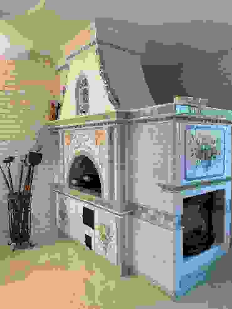 Клинская керамика 客廳壁爐與配件 陶器 White