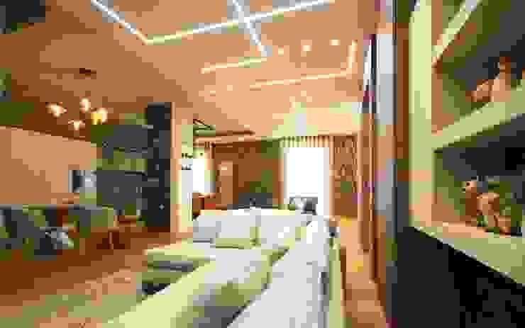 Studio Ferlenda Salas de estilo moderno Derivados de madera Gris