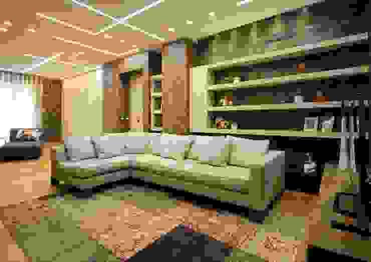 Studio Ferlenda Modern Living Room Slate Beige