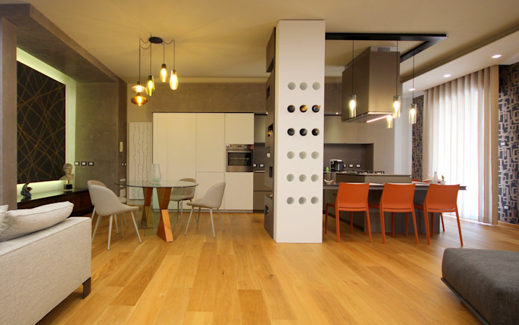 Studio Ferlenda Modern Dining Room Wood White