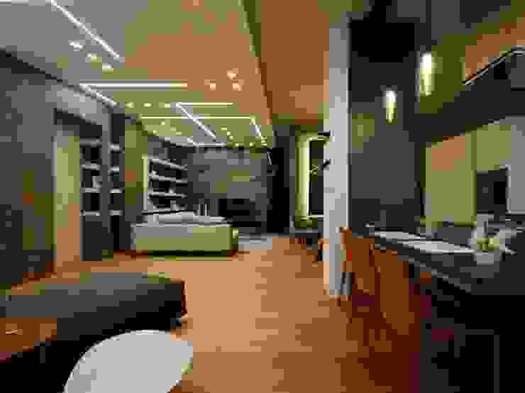 Studio Ferlenda Salas de estilo moderno Madera Acabado en madera