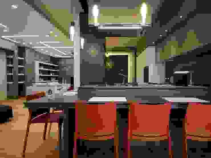 Studio Ferlenda Built-in kitchens Copper/Bronze/Brass White