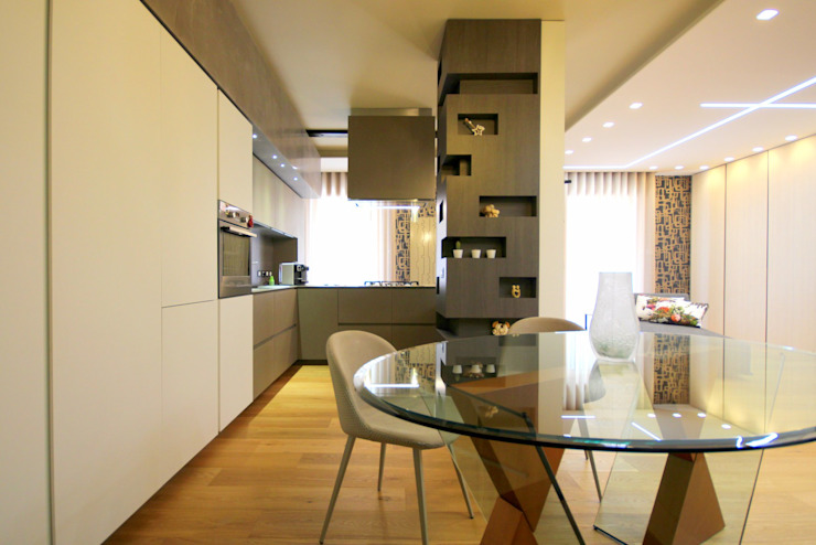 Studio Ferlenda Modern Dining Room MDF White