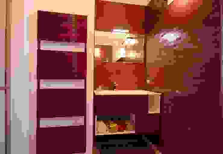 Studio Ferlenda Baños de estilo moderno Azulejos Rosa