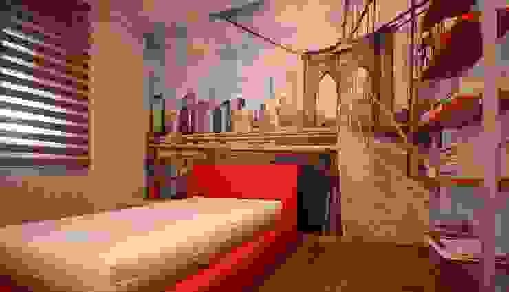Studio Ferlenda Boys Bedroom Red