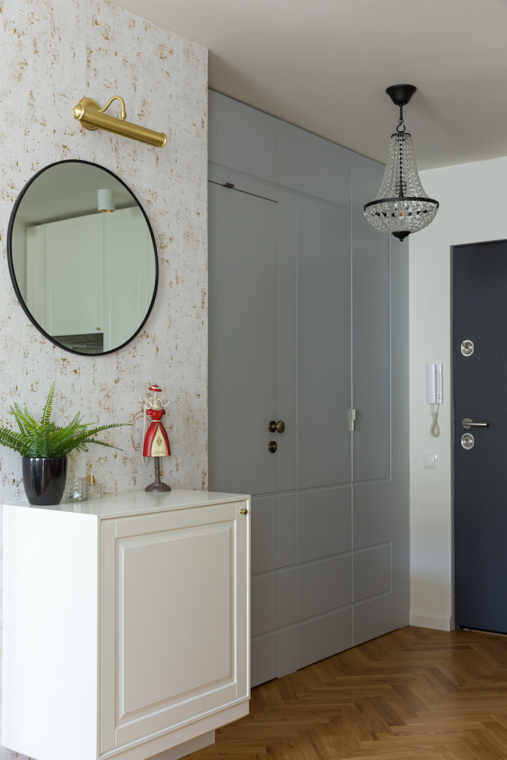 IDEALS . Marta Jaślan Interiors Eclectic style corridor, hallway & stairs