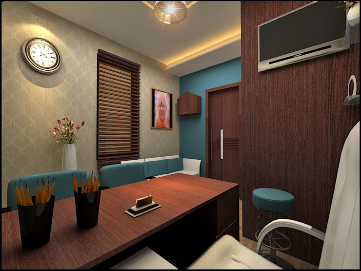 Dietician clinic Eclectic style study/office by Design & Creations Eclectic MDF