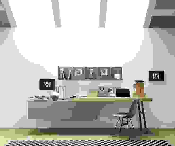 Livarea Bureau moderne Panneau d'aggloméré Gris