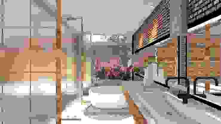 Baño TDT Arquitectos Baños minimalistas Multicolor