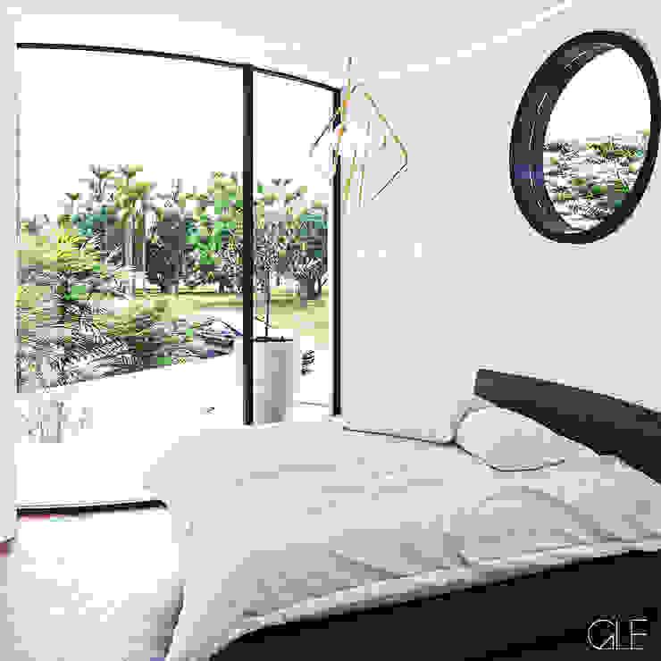 Casa Loera - Arquitectura Organica Dormitorios modernos de GLE Arquitectura Moderno
