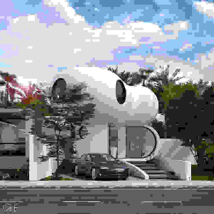 Casa Loera - Fachada Principal Casas modernas de GLE Arquitectura Moderno
