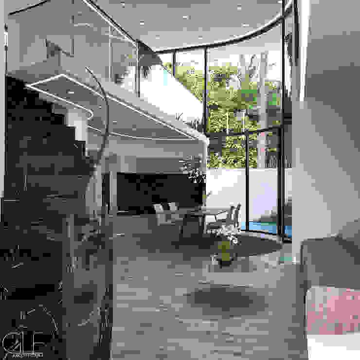 Casa Loera - Arquitectura Organica GLE Arquitectura Casas modernas
