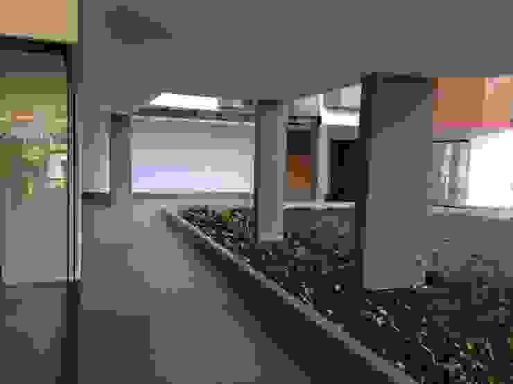 Circulação entre as areas internas- DEPOIS Edifícios comerciais modernos por Lucia Helena Bellini arquitetura e interiores Moderno