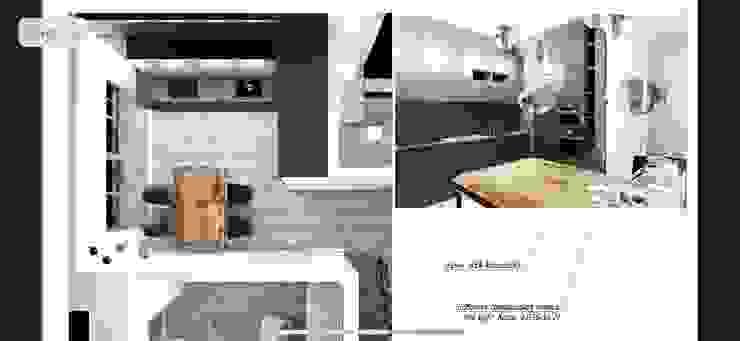 Таунхаус в стиле ИКЕА Veronika Brown Studio Кухня в скандинавском стиле
