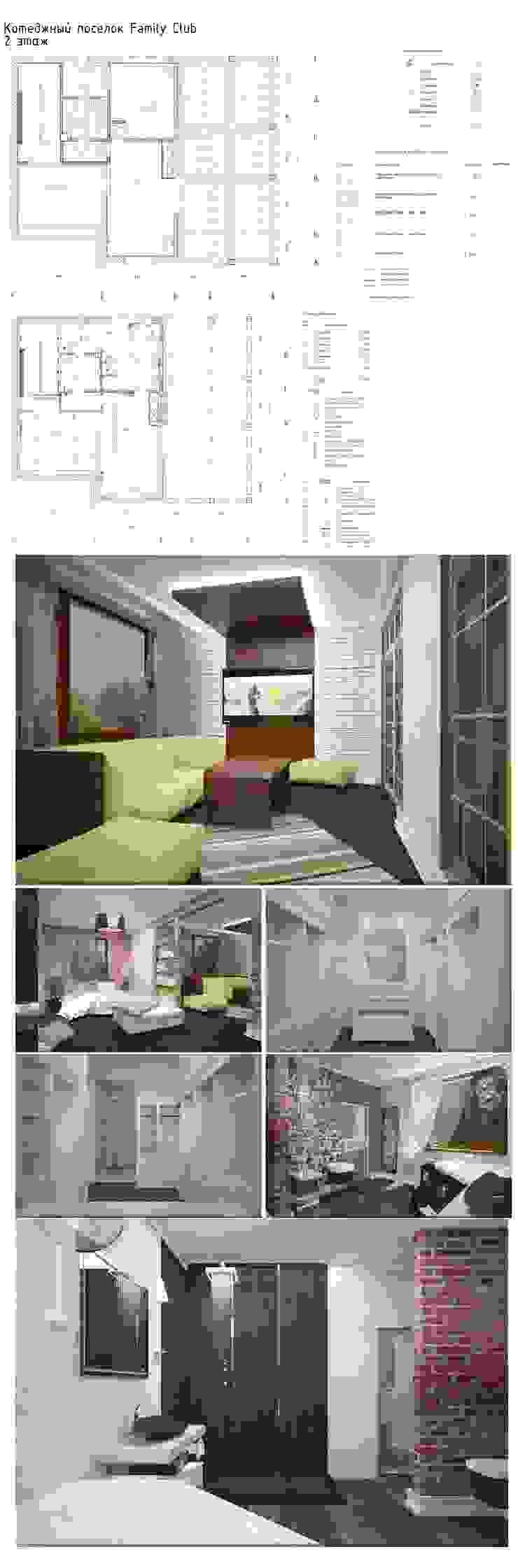 Дизайн интерьера п.FamilyClub Коридор, прихожая и лестница в модерн стиле от Veronika Brown Studio Модерн
