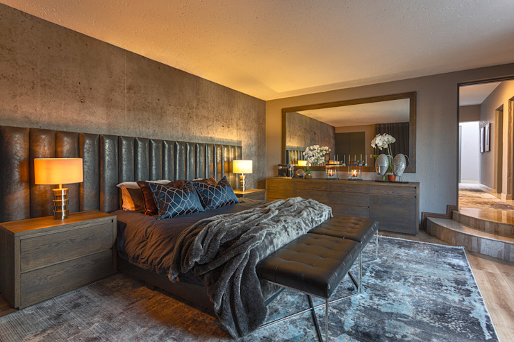 Bedfordview: Monte D' Oro Villa: Shortlisted for the International Design & Architecture Awards 2020 Modern style bedroom by CKW Lifestyle Associates PTY Ltd Modern