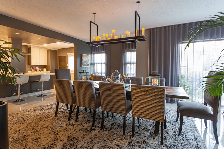 Bedfordview: Monte D' Oro Villa: Shortlisted for the International Design & Architecture Awards 2020 Modern dining room by CKW Lifestyle Associates PTY Ltd Modern