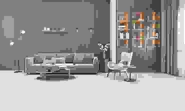 Oturma Odası tasarımı Data Mimarlik Modern Oturma Odası Ahşap-Plastik Kompozit Gri