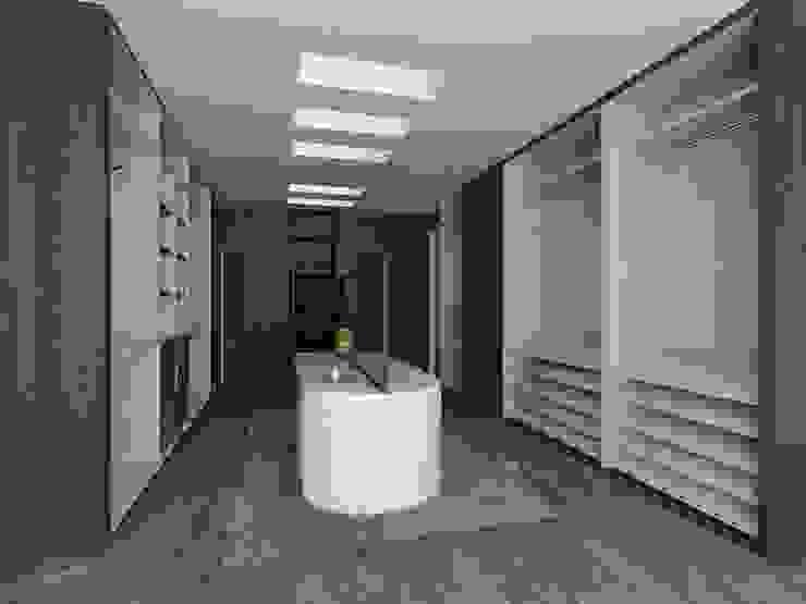 emARTquitectura Arte y Diseño Ruang Ganti Modern