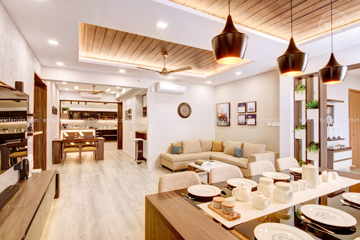 Open Concept Kitchen and Living Room DLIFE Home Interiors Modern living room