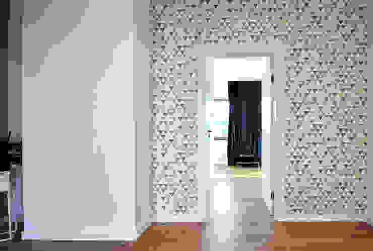 Piotr Stolarek Projektowanie Wnętrz 現代風玄關、走廊與階梯