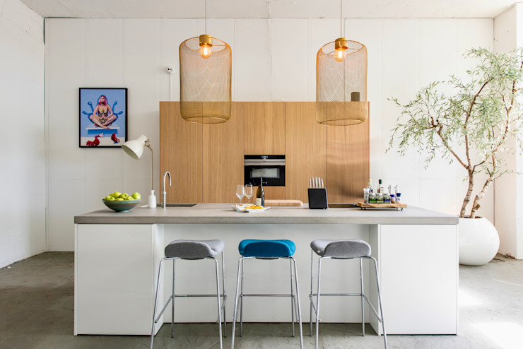 NewLook Brasschaat Keukens Dapur Gaya Industrial Kayu White