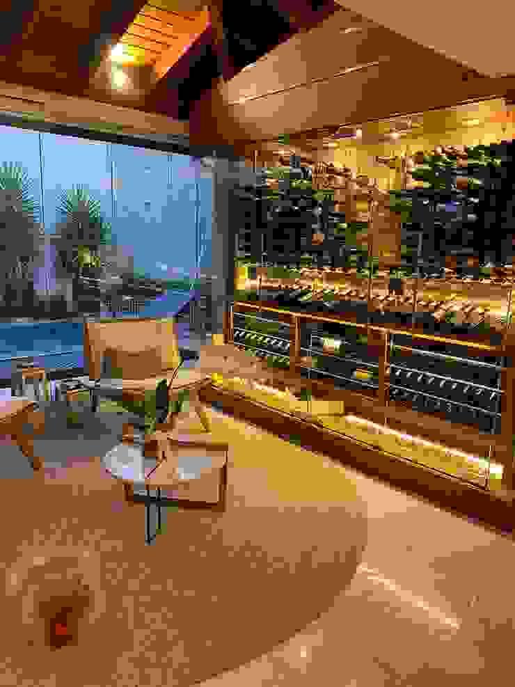 Gibeli Refrigeração ที่เก็บไวน์ กระจกและแก้ว Yellow