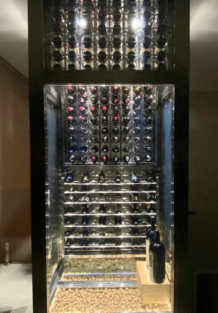 Gibeli Refrigeração ที่เก็บไวน์ เหล็ก Metallic/Silver