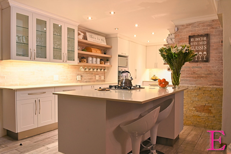 White & Neutral Shaker Style Kitchen by Ergo Designer Kitchens Scandinavian MDF