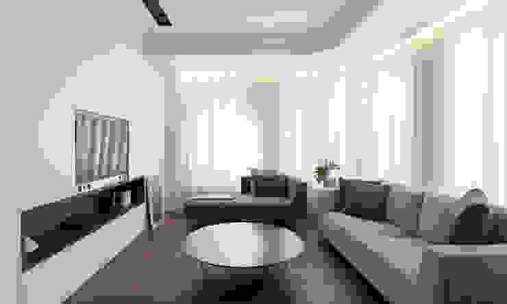 Salón luminoso MANUEL GARCÍA ASOCIADOS Salones de estilo moderno Blanco