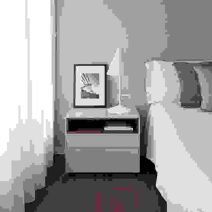 Dormitorio principal en tonos neutros MANUEL GARCÍA ASOCIADOS Dormitorios de estilo moderno Gris