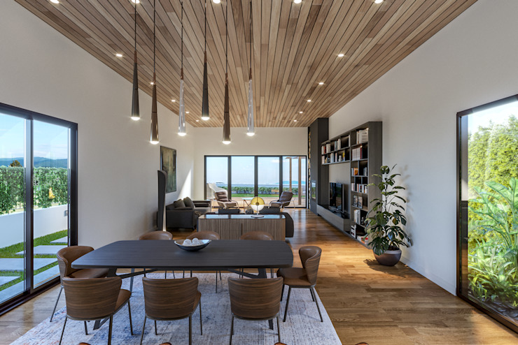 Villa Karaoğlanoğlu Modern Oturma Odası yücel partners Modern