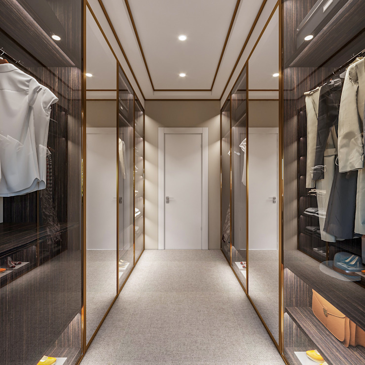 Villa Karaoğlanoğlu Modern Giyinme Odası yücel partners Modern