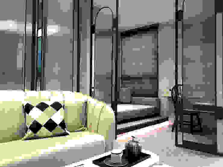 MSBT 幔室布緹 Salas de estilo industrial Derivados de madera Gris